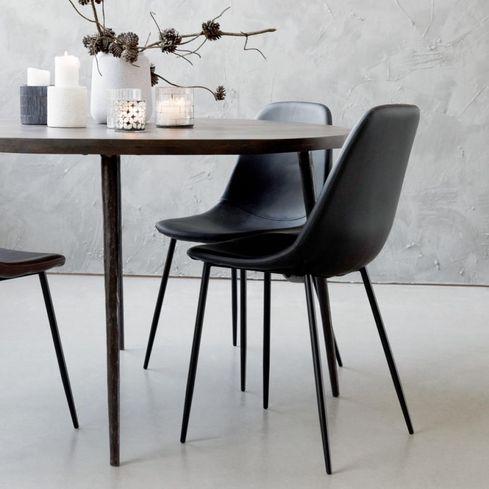 Zwarte Design Fauteuil.House Doctor Stoel Forms Zwart